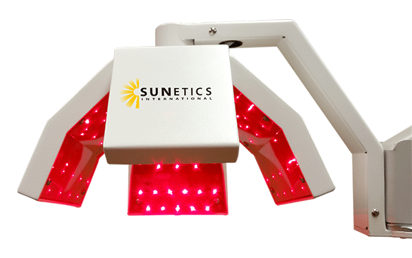 The Sunetics Clinical Laser showing laser light
