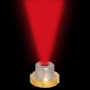 Laser diode focuses laser light